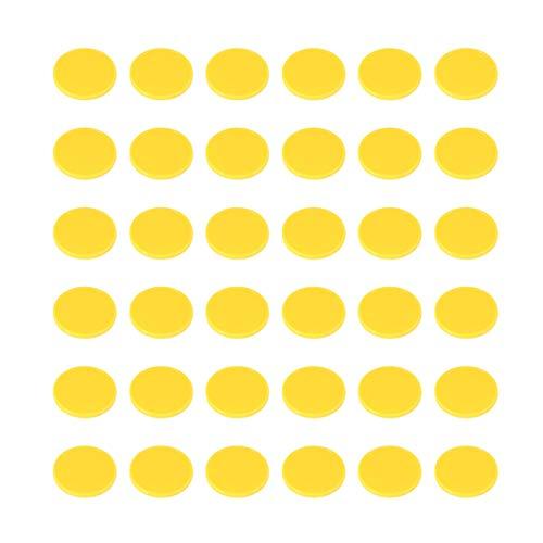 STOBOK 200Pcs Contagem de Bingo Chips de Marcadores de Discos de Discos de Contadores de Contagem de Aprendizagem de Matemática Brinquedos de Matemática Prática E Fichas de Poker Jogo