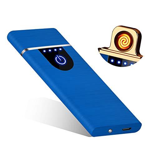 RiverMolars Y20 Encendedor Eléctrico, Mechero Recargable USB, Pantalla Táctil, a Prueba de...