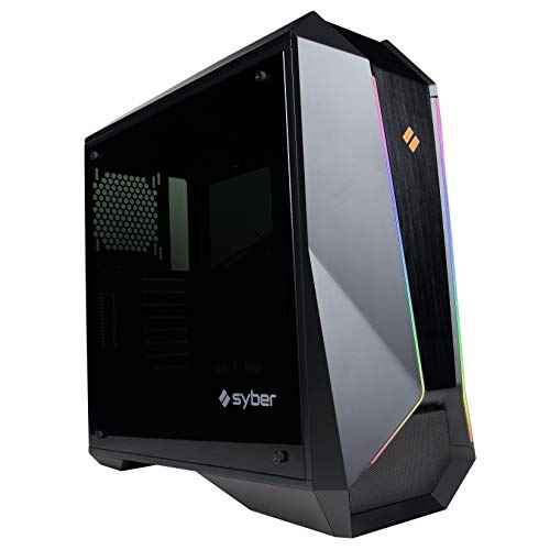 CyberpowerPC SLC100 Syber Full Tower Gaming Case, Black