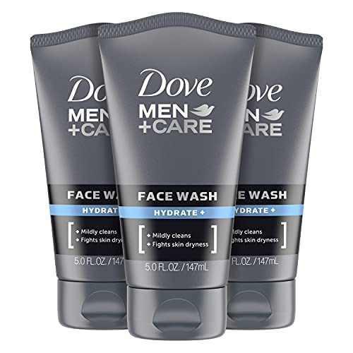 Dove Men+ Face Wash Hydrate Plus Skin Care, 5 Oz, 3 Count