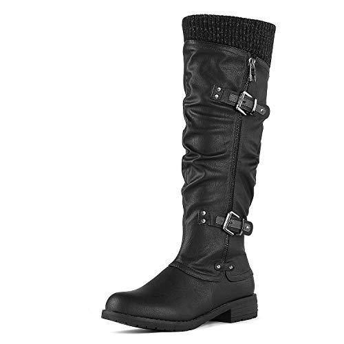 DREAM PAIRS Women's Depp Black Knee High Boots Size 10 B(M) US
