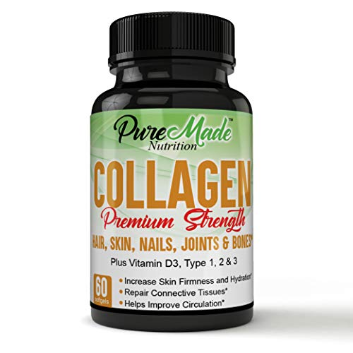A Superior Form of Multi Collagen Pills Complex, Best Quality, Types 1, 2 & 3 - Anti-Aging Formula, Healthy Skin & Hair, Strong Joints, Bones & Nails - for Women & Men