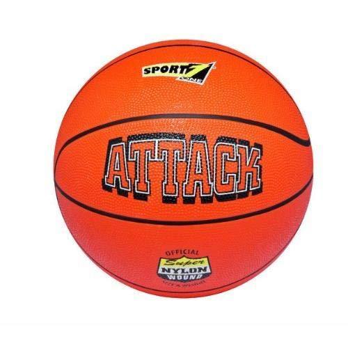 Mandelli- 7 Attack Sgonfio Pallone Basket Gioco Sportivo Sport Giocattolo 275, Multicolore, 8003029405957