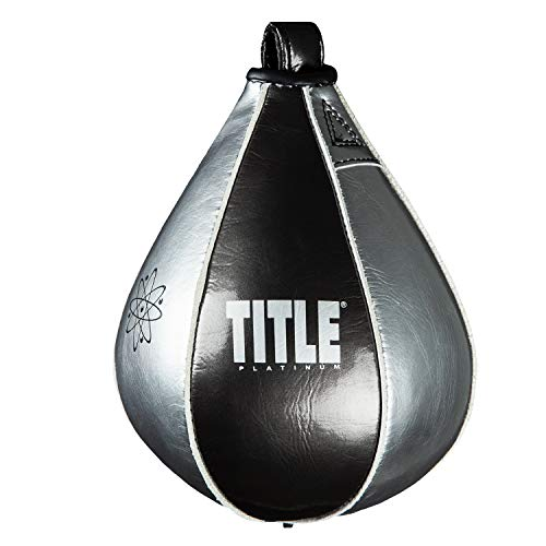 Title Boxing Platinum Atomic Speed Bag, Black/Platinum, 4' x 6'