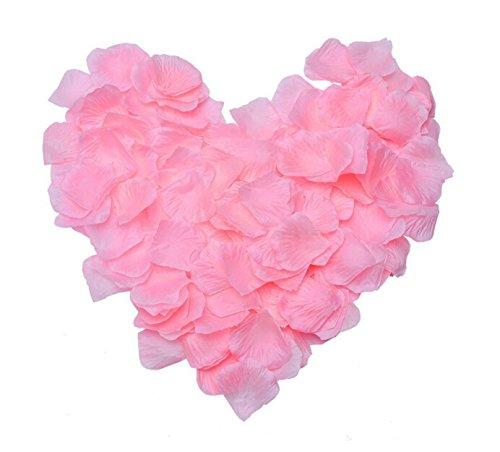 JZK 1000x Seide Rosenblätter Rosenblüten für Hochzeit Party Dekoration(Rosa)