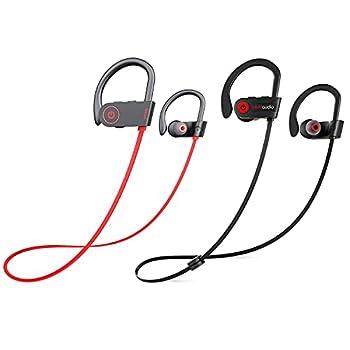 Otium Bluetooth Headphones Best Wireless Earbuds IPX7 Waterproof Sports Earphones w/Mic HD Stereo Sweatproof in-Ear Earbuds Gym Running Workout 8 Hour Battery Noise Cancelling Headsets