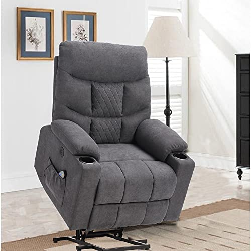 SAMERY Power Lift Recliner Chair with Massage and Heating for...