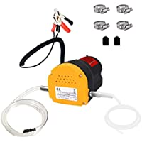 Eonlion 60W Oil Change Pump Extractor with 2 Durable Anti-corrosion Rubber Hoses (Yellow)