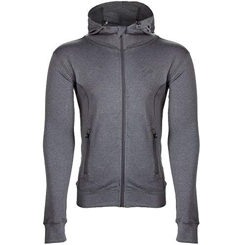 GORILLA WEAR Glendo Trainingsjacke - hellgrau - leichte Jacke mit Logo Aufdruck bequem zum Sport Alltag Freizeit Workout Training Atmungsaktiv aus Polyester Elasthan mit Reissverschluss, 5XL