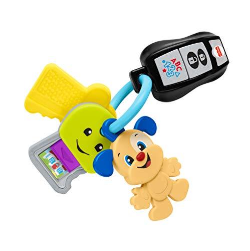 Fisher-Price Rires et Éveil Mes Premières Clés avec télécommande, jouet sons et lumière, version française, pour bébé et enfant de 6mois à 3ans, GRF24