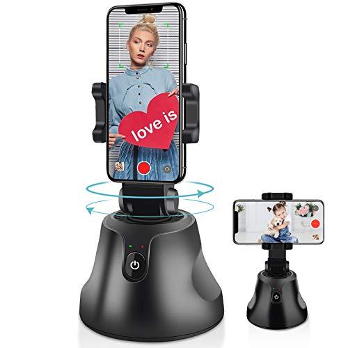 Estabilizador de gimbal, suporte para celular NEWXLT, câmera de robô com rotação de 360°, rastreamento automático de objetos, câmera inteligente de vídeo, Vlog, para todos os telefones iOS e Android