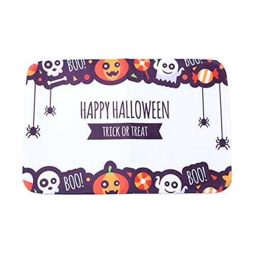 Cabilock Delicate - Tappeto da bagno antiscivolo per Halloween, zucca e strega, motivo Carpet
