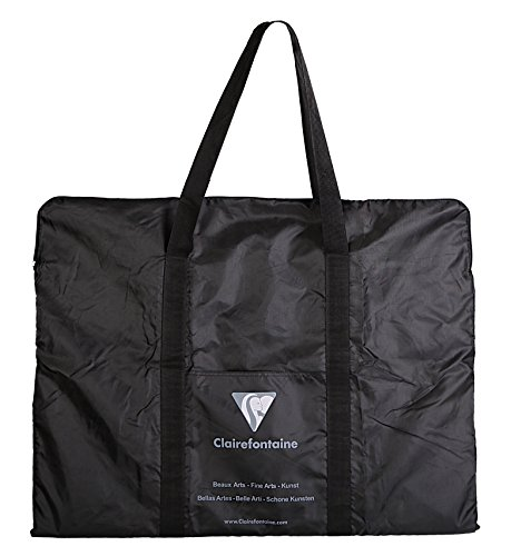 Clairefontaine 90130C Transporttasche von Zeichenmappen (59 x 75 cm, ideal zum Transport Ihrer Kunstwerke, Polyamid) schwarz