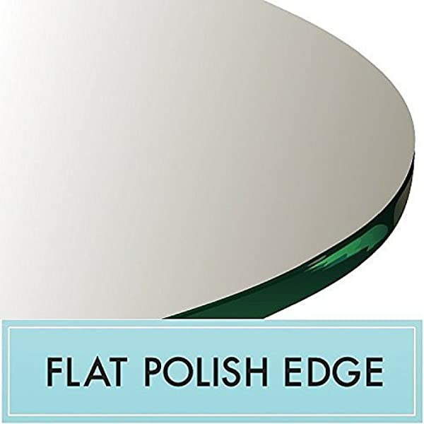 58 Round Glass Top 3 8 Thick Flat Polish Edge