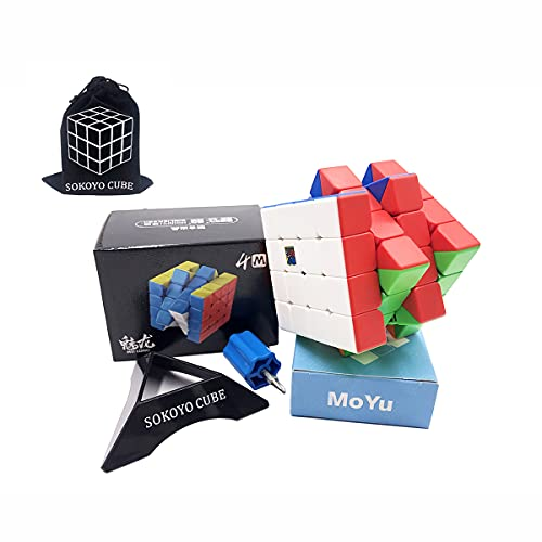 SOKOYO Moyu Meilong M magnetico 2x2 3x3 Cubo magico 4x4 5x5 Stickerless speed cube magnet puzzle cube 2x2x2 3x3x3 4x4x4 5x5x5 (Meilong 4x4 M)