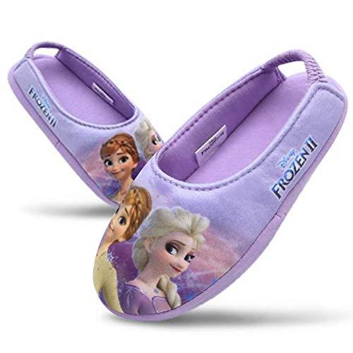 [Joah Shop] アナと雪の女王2 Frozen 2 エルサ アナ 女の子 子供用 室内履き キッズ スリッパ ルームシューズ (19.0 cm) [並行輸入品]