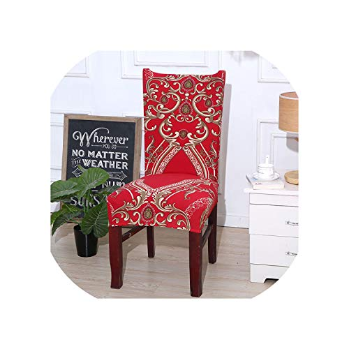 Kabby Red Kitchen Chair Cover Stretch Seat Covers Chair Dining Room Blue House slipcover Chair Covers Spandex 1/2/4/6 pcs,Color 6,1 pc Chair Cover