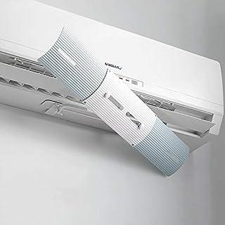 TIZJ Guía Ajustable del Parabrisas del acondicionador de Aire Cubierta Aire Acondicionado Deflector Deflector de Viento Escudo Mes consecutivo Anti-Viento Escudo (Color : Blue)