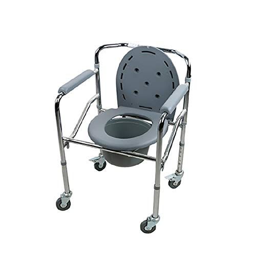 Sale!! ZHILIAN& Toilet Chair Foldable Portable Elderly Toilet Seat/Bath Chair Family Bathroom Preg...