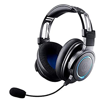 Audio-Technica ATH-G1WL Premium Wireless Gaming Headset for Laptops PCs & Macs 2.4GHz 7.1 Surround Sound Mode USB Type-A Black Adjustable