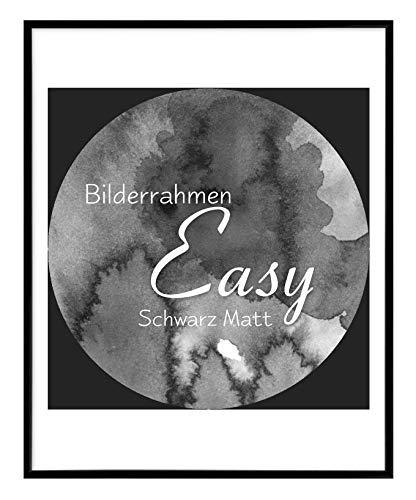 BIRAPA Bilderrahmen Easy 60x90 cm aus Kunststoff in Schwarz Matt - Farbe und Größe wählbar