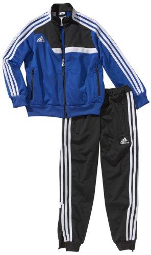 adidas Kinder Bekleidung Präsentationsanzug Tiro 13, Blau/Schwarz, 152