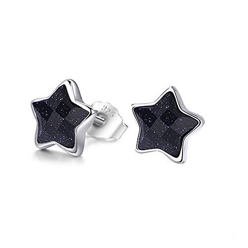 Fu You 925 Sterling Silber Ohrringe Sterne Ohrstecker Ohrschmuck Schmuck Geschenke Ohrringe für Damen Mädchen