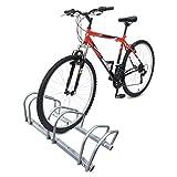 VOUNOT Râtelier vélo 3 vélos Range vélo Système range vélo Rangement pour vélo Support pour bicyclette sol ou mural En acier revêtu Support de rangement vélo jardin ou garage Râtelier familial