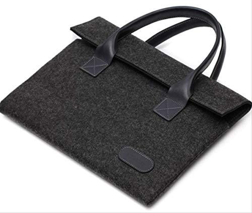 Vilten tas voor laptop, verschillende maten  Blanco Y Gris