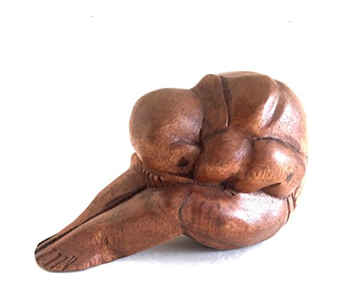 OMA Wooden Hand Crafted Weeping Buddha Statue Figurine Reclining Buddha Meditation Yoga Home Decor Sculpture