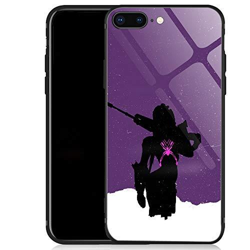iPhone SE 2020 Case,Gun on Shoulder iPhone 8 Case,for Girls Men Boy iPhone 7 Cases,Shockproof Non-Slip Tempered Glass Pattern Design Case for Apple 7/8/SE2 4.7-inch