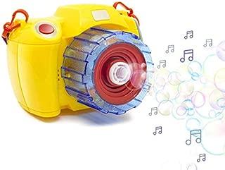 CHTOY シャボン玉 製造機 カメラスタイル バブルマシーン 電動式シャボン パーティー シャボンダマシーン 外遊び プール アウトドア スポーツトイ 子供たち おもちゃ (イエロー)