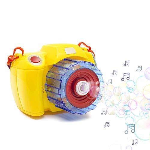 CHTOY シャボン玉 製造機 カメラスタイル バブルマシーン 電動式シャボン パーティー シャボンダマシーン ...