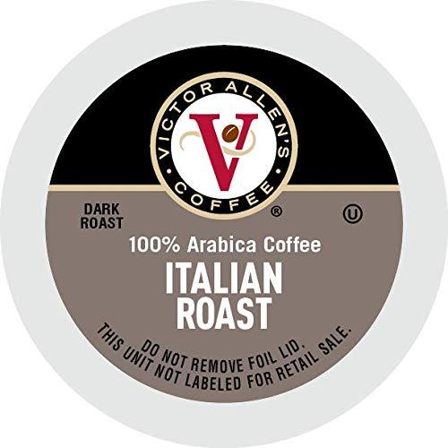 Victor Allen's Coffee K Cups, Italian Roast Single Serve Dark Roast Coffee, 80 Count, Keurig 2.0 Brewer Compatible