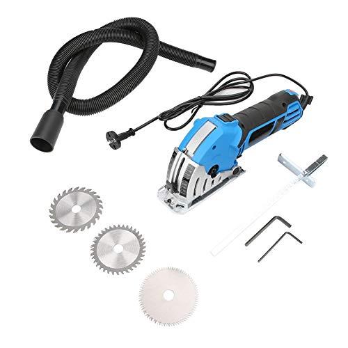 Elektrische zaag, elektrische zaag, 550 W, 220 V, draagbare DIY multifunctionele mini elektrische cirkelzaag kit 4200 omw/min, met zaagblad, vacuümslang, inbussleutel, geleidingliniaal