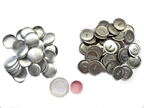 XieXie 50 Stück Knopfrohlinge mit Öse Ø 23mm mit Tool Überziehbare Knöpfe