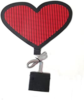 Sound Activated Flashing Red Heart LED Panel with Sensor