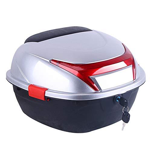 ZDY Universal baúl de Moto Scooter Maleta, Maletero, Equipaje, candado Superior, Caja de Transporte, Puede almacenar Casco