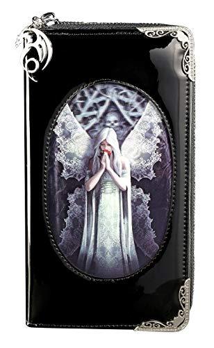 Gothic Geldbörse mit 3D Motiv | Only Love Remains by Anne Stokes | Engel Damen Fantasy Geldbeutel Portemonnaie Lack