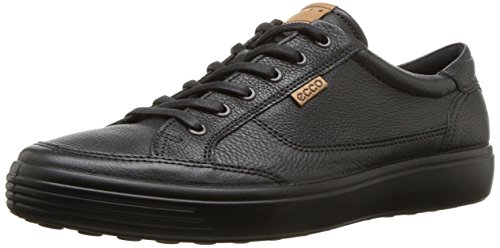 ECCO Men's Soft 7 Sneaker, Black/Black, 43 M EU (9-9.5 US)