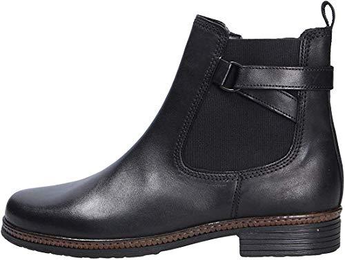 Gabor Damen Chelsea Boots 34.670, Frauen Stiefelette,Stiefel,Halbstiefel,Bootie,Schlupfstiefel,flach,schwarz,37.5 EU / 4.5 UK