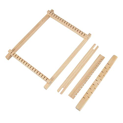 Venus valink Webstuhl, Mini-Holz-Loom-Kit, DIY Weaving Toy Loom, DIY Hand Stricken Loom, Handstrickmaschine, Holz Warp Loom Kit, LapWebrahmen für Erwachsene Kinder Anfänger 1