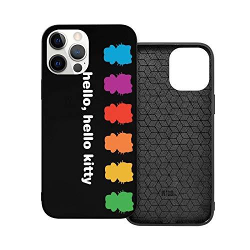VOROY A-P-P-L-E - Funda básica para iPhone 12, diseño de Hello Kitty impreso de poliuretano termoplástico (TPU) para la madre Ip12pro Max-6.7