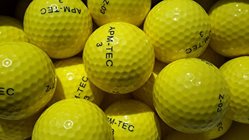 APM-TEC 100 Golfbälle, gelb, NEU, Turnierqualität, 432 Dimple Z-03