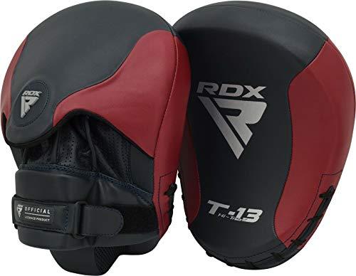 RDX Manoplas de Boxeo Paos Muay Thai Almohadilla Kalix Cuero MMA Kick Boxing Entrenamiento Artes Marciales Krav Maga Escudo Patada Gancho y Jab Karate Focus Pad