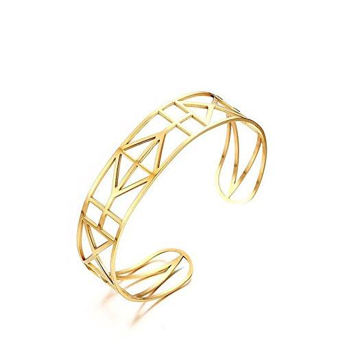 Daesar Armband Armreif Edelstahl armband für Damen C-förmige Öffnungen Gold Armschmuck Armbänder