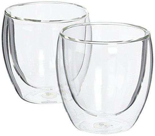 Bodum Pavina Glass, Double-Wall Insulated Glasses, Clear, 8 Ounces Each (Set of 2)