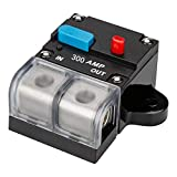 Fuse Holders Inverter Circuit Breaker Car Audio Solar Energy Inline Circuit Breaker Fuse Inverter With Waterproof Cover for Motor Auto Car Marine Boat (300A)