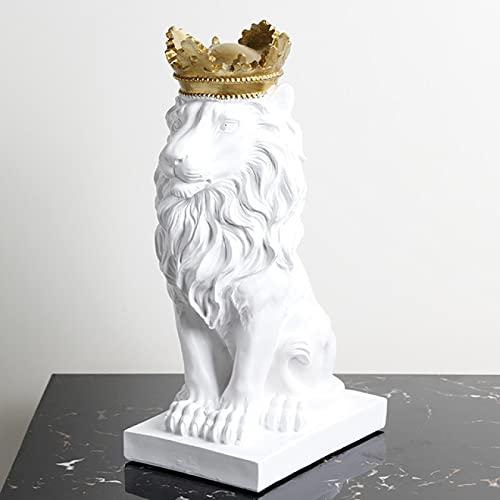 YYLSHCYHLI Adornos León 3D, Estatua, Decoración del Hogar, Escultura Animal, Moderno, Decoración De Mesa, Miniatura De Estatuilla, Arte Decorativo De Escritorio
