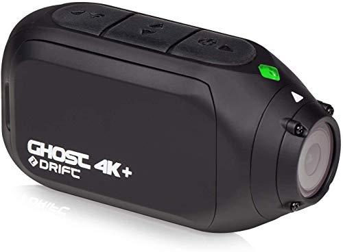 Drift Ghost 4K + Action Cam - Neueste Drift Action Camera - mit 4K Ultra High Definition, EIS, Stromlinienformiger Form, Dual und Externen Mikrofonen